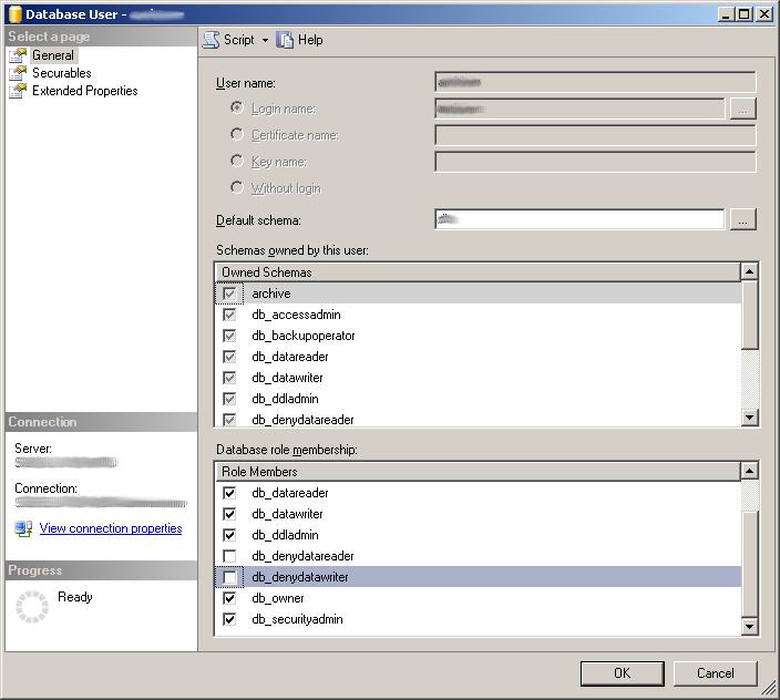 MSSQL User Permissions